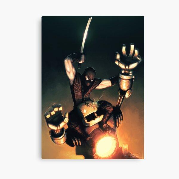 Ninja Vs. robot Canvas Print