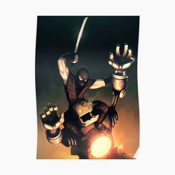 Ninja Vs. robot Poster