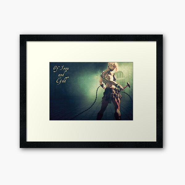 Of Iron and Gold (Book 1) Framed Art Print
