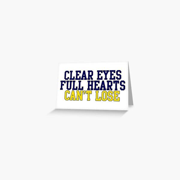 CLEAR EYES!!!!! Greeting Card