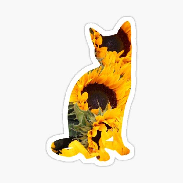Sunflower Cat Sticker