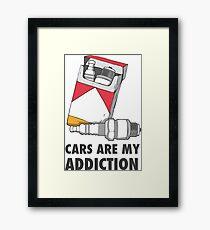 Cars are my addiction Framed Print