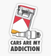 Cars are my addiction Sticker