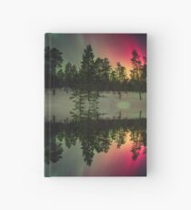 Stripes of northern lights Hardcover Journal