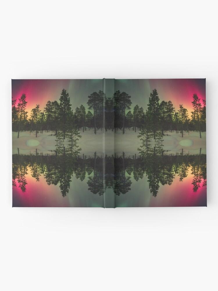 Alternative Ansicht von Streifen von Nordlichtern Notizbuch