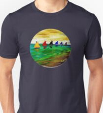 Boats In A Row T-Shirt
