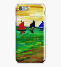 Boats In A Row iPhone Case/Skin