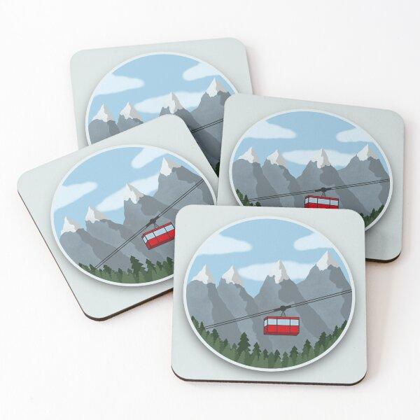 A Trip through the Alps Coasters (Set of 4)