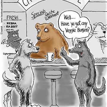 Veggie Wolf at the Vegetarian Cafe by 13thfloorcomic