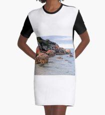 Coloured Rocks, Northern Coast, Tasmania, Australia Graphic T-Shirt Dress