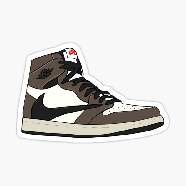 Retro High Travis Scott Jordan 1 Pegatina