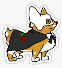 Corgi Of The Opera Sticker