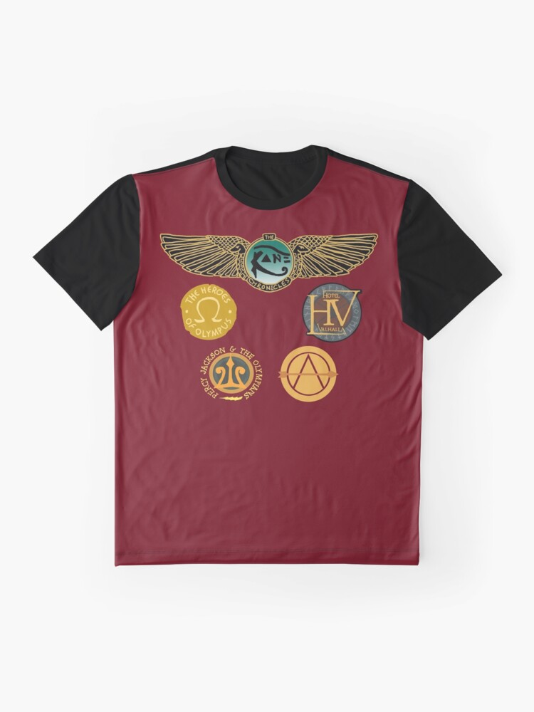 Vista alternativa de Camiseta gráfica Logotipos de Rick Riordan