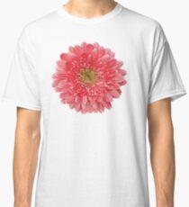Coral Gerbera Gerber Daisy Flower Floral Classic T-Shirt