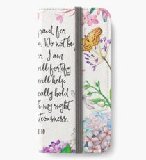 Isaiah 41:10 (Flowers and Butterflies) iPhone Wallet/Case/Skin