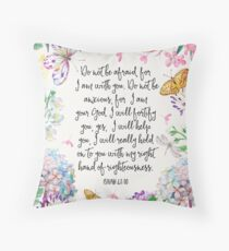 Isaiah 41:10 (Flowers and Butterflies) Throw Pillow