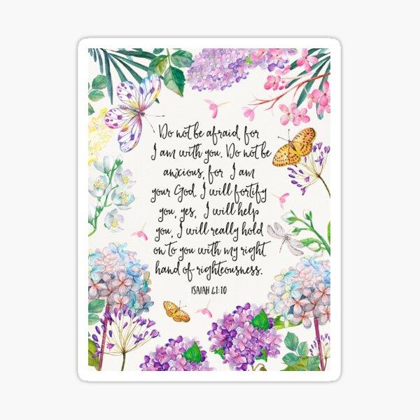 Isaiah 41:10 (Flowers and Butterflies) Sticker