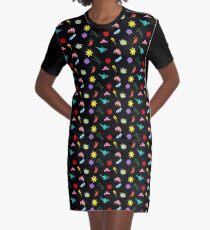Princess Symbol Pattern Variant Graphic T-Shirt Dress