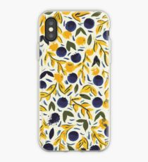 Dots Dots Leaves Leaves iPhone Case