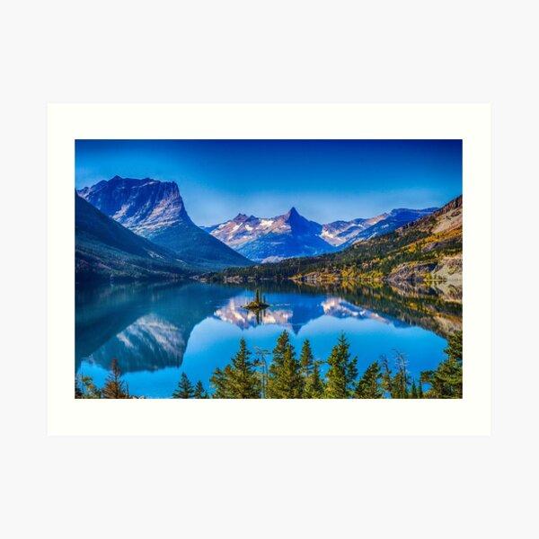 St Mary Lake, Glacier National Park, Montana, USA Art Print