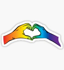 Hände Herz Regenbogen Gay Rights Pride Sticker