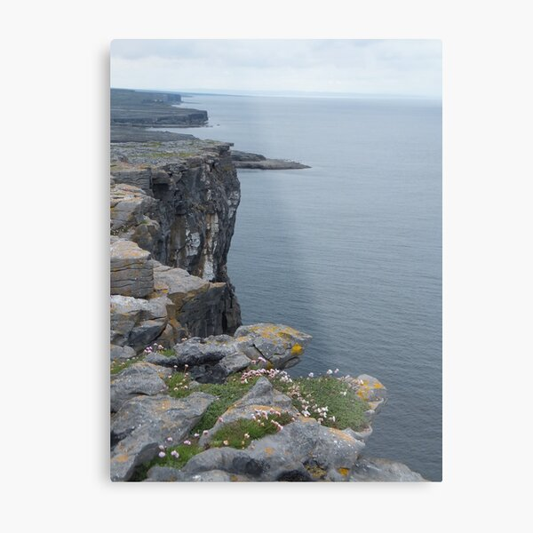 Cliffs of Dun Aengus Metal Print
