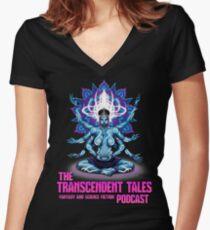 Transcendent Tales Podcast Women's Fitted V-Neck T-Shirt