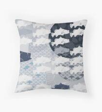 Decorative Barramundi Throw Pillow - Dark 2 Throw Pillow