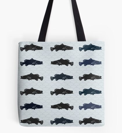 Barramundi Repeat Throw Pillow Light Tote Bag