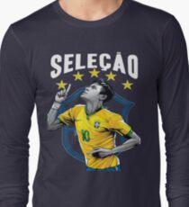 Neymar Brazil World Cup Shirt Long Sleeve T-Shirt