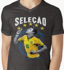 Neymar Brazil World Cup Shirt Men's V-Neck T-Shirt