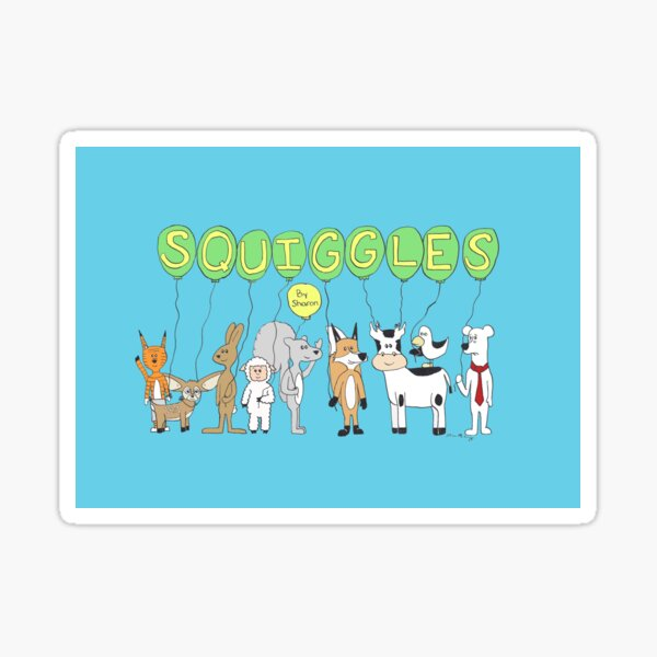 Squiggles by Sharon Cast Sticker