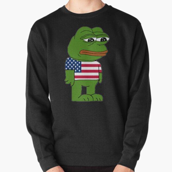 American Sad Pepe Frog Pullover Sweatshirt