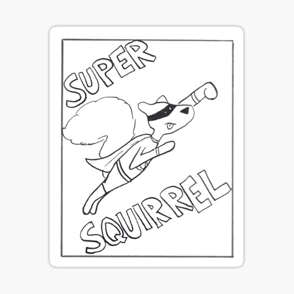 Super Squirrel! Sticker