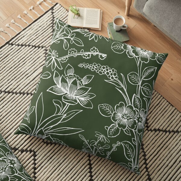 Evergreen Floor Pillow