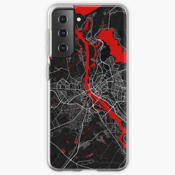 Riga City Map of Latvia - Oriental Samsung Galaxy Soft Case