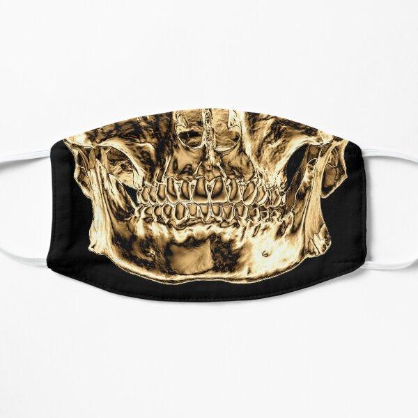 skull gold mask Flat Mask