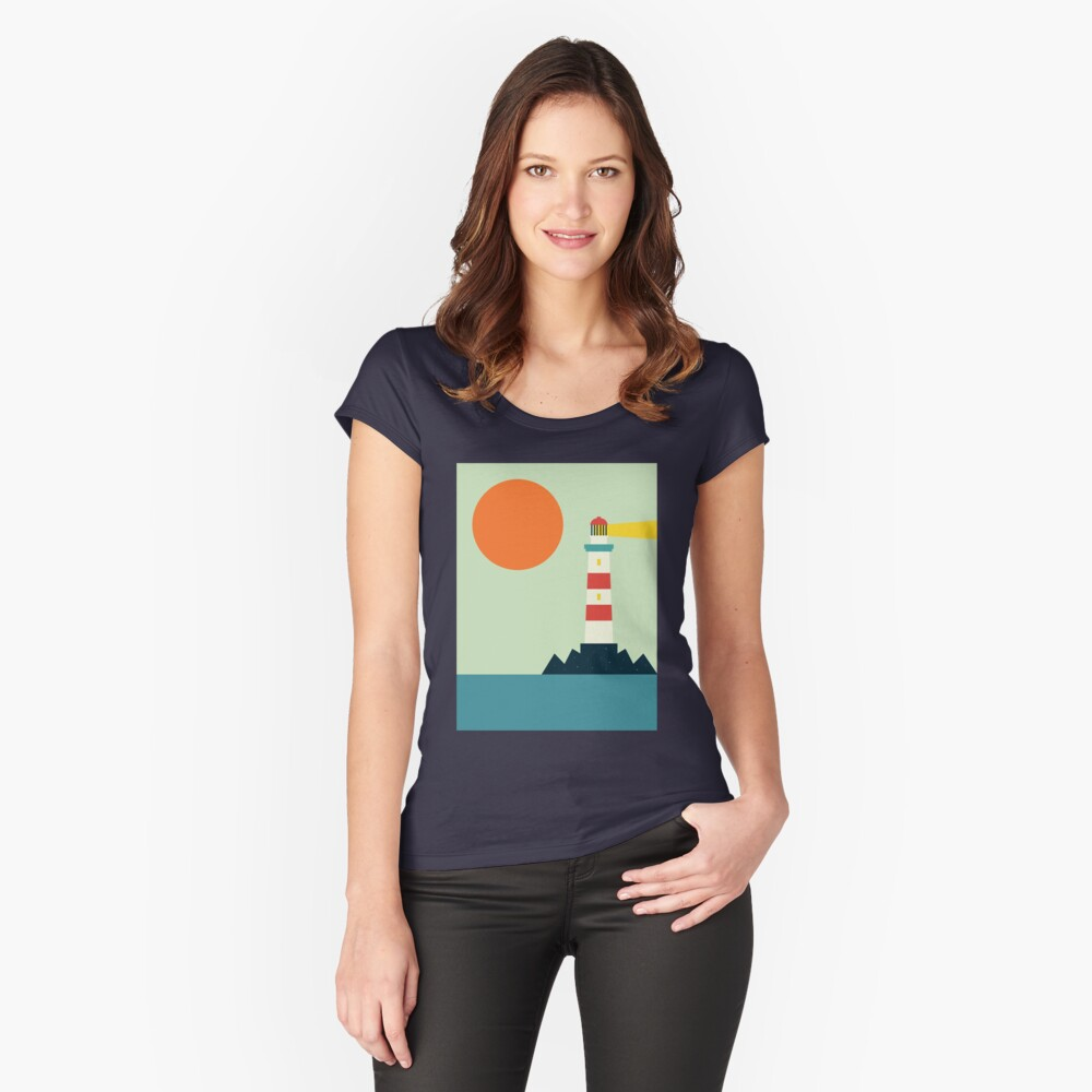 Lighthouse Fitted Scoop T-Shirt