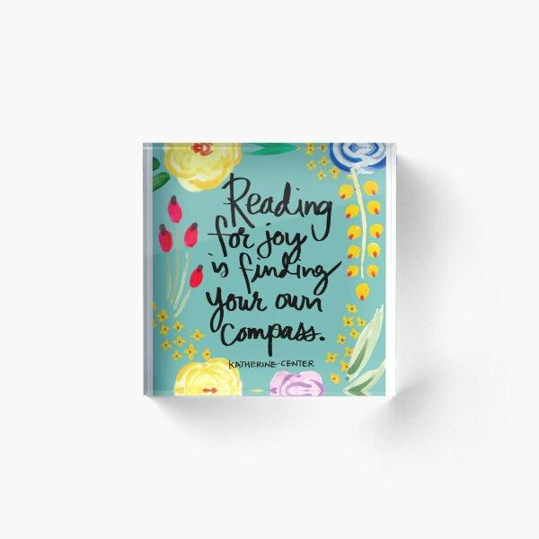 reading for joy Acrylic Block