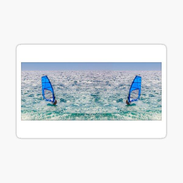 Ocean Windsurfing Mug Sticker