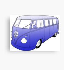 Blue VW Camper Canvas Print