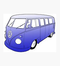 Blue VW Camper Photographic Print