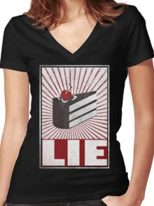 We want the truth! Women's Fitted V-Neck T-Shirt