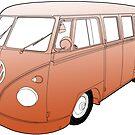 Orange VW Camper by Colin Bentham