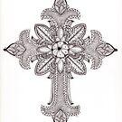 Tangled Ornate Cross by Christianne Gerstner