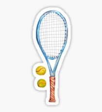 Tennis racket with tennis balls_2 Sticker