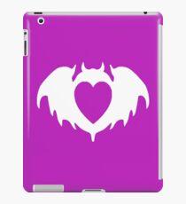 Clandestine Bat Heart - White iPad Case/Skin