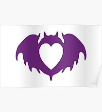 Clandestine Bat Heart - Purple Poster