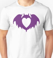 Clandestine Bat Heart - Purple Unisex T-Shirt