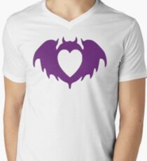 Clandestine Bat Heart - Purple Mens V-Neck T-Shirt